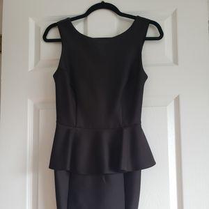 Topshop Black Peplum Dress